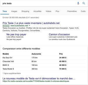 extrait optimisé google