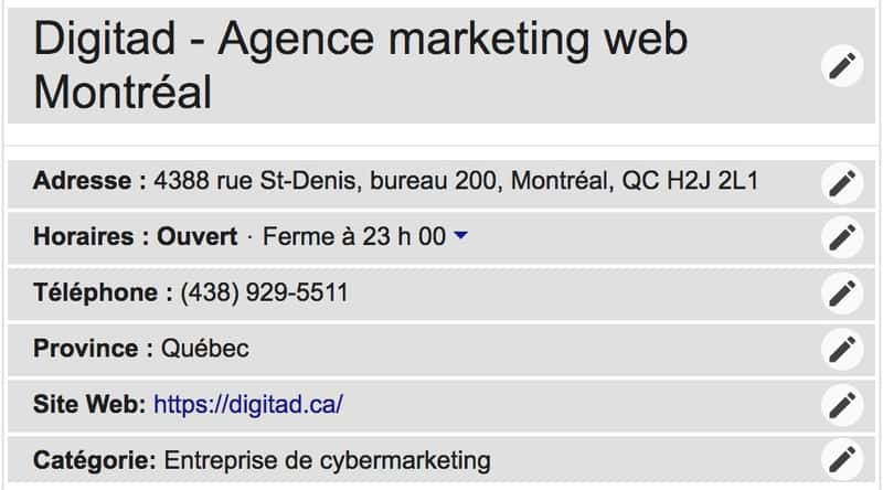 référencement local sur Google My Business