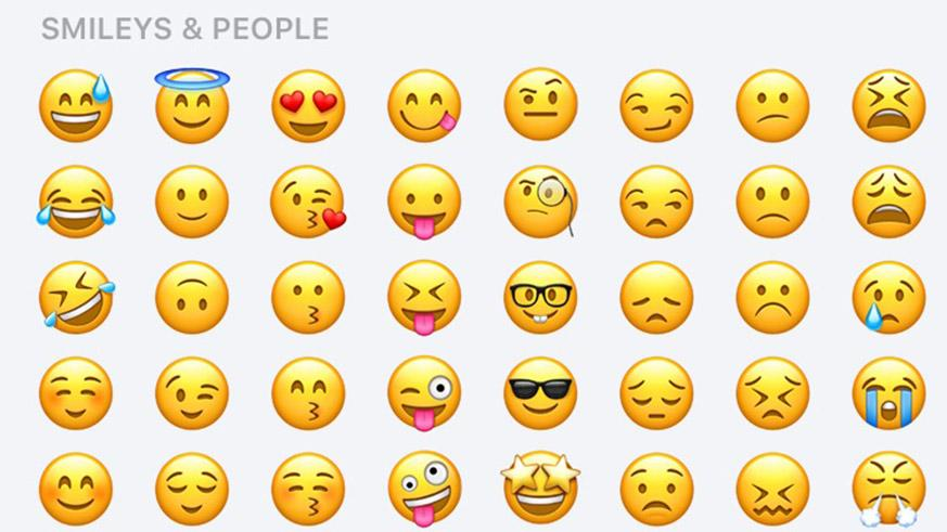 Emojis pour publications facebook