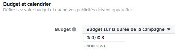 comment établir un budget lifetime