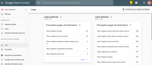 Comment analyser ses liens sur la google search console?